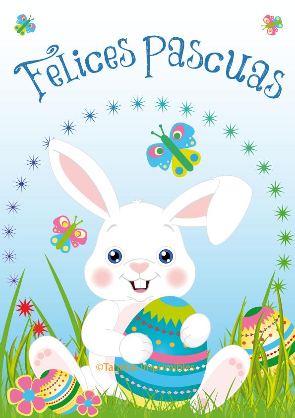 Imágenes simpáticas de conejos con frases para desear Felices