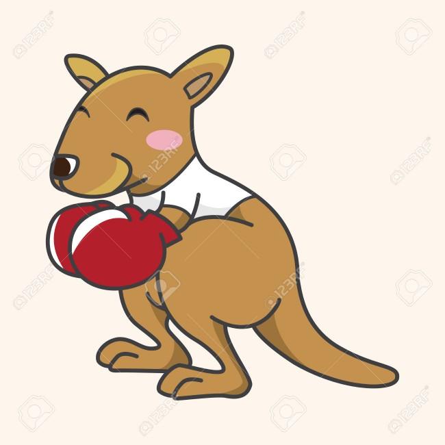 37389584-Estoy-haciendo-deporte-elementos-tem-ticos-de-dibujos-animados-de-canguro-Animal-Foto-de-archivo