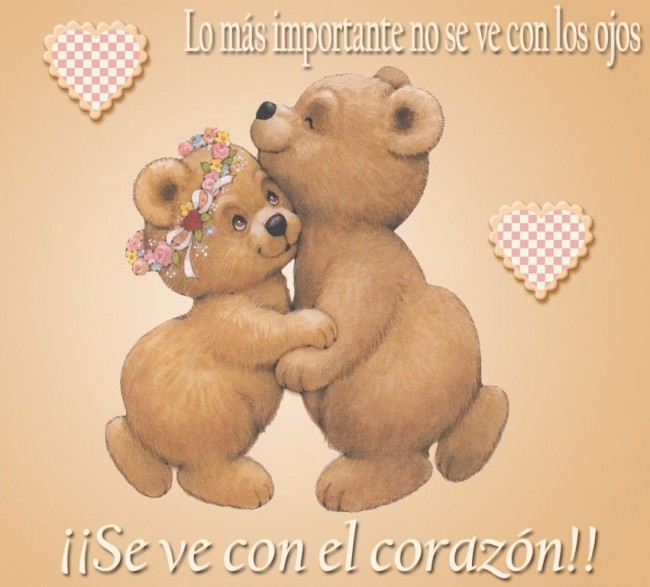 Imagenes De Amor Con Ositos Tiernos Para Descargar on Dibujos De Corazon Es Para Colorear