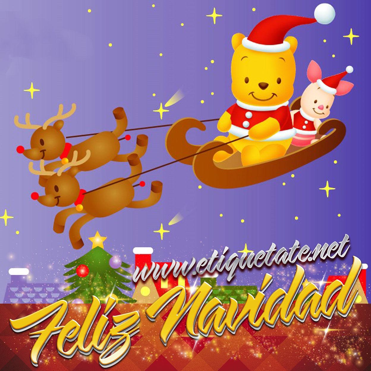Winnie pooh im genes tarjetas frases dulces y mensajes - Dibujos para postales navidenas ...