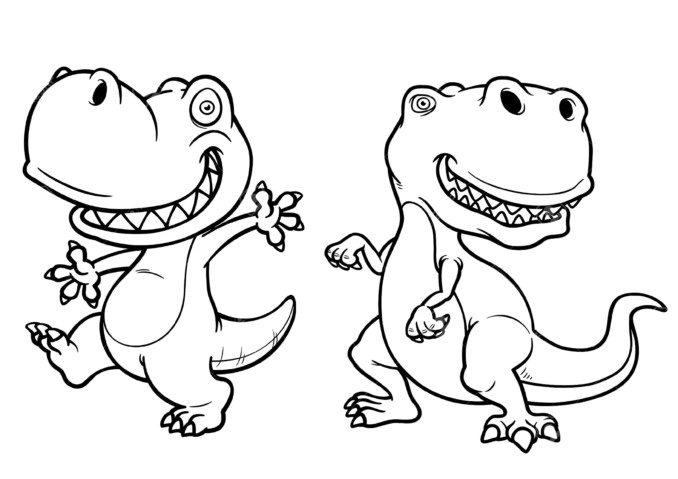 Dibujos Infantiles De Dinosaurios Para Colorear: Imágenes De DINOSAURIOS: Infografías E Imágenes De