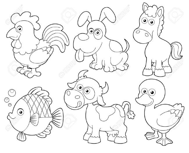 Mas De Treinta Imágenes Para Descargar De Animales Para Colorear