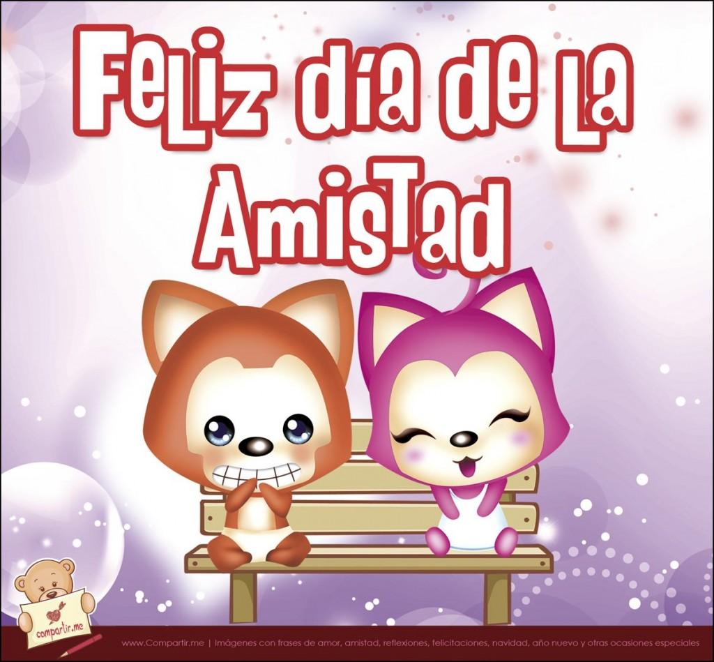 Imagenes con frases cortas de Feliz día del amigo con animalitos ...