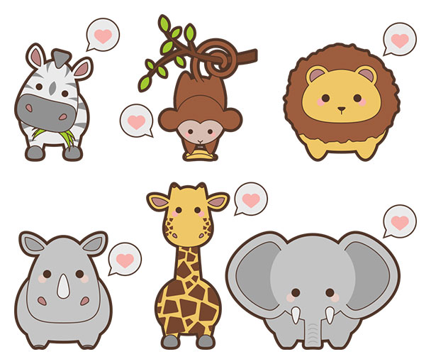 free-kawaii-safari-animal-icons-preview